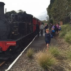 MOTAT-Train-Passengers after water filtration installation