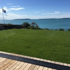 Perfectly irrigated lawn Auckland